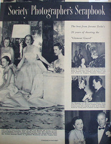 Society Photographers Scrapbook 1950 Article