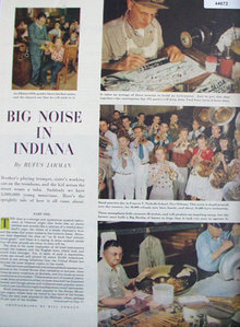 Rufus Jarman Big Noise In Indiana 1948 Article