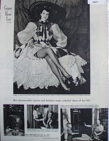 Gypsy rose Lee 1948 Article