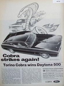Ford Cobra 1969 Ad.