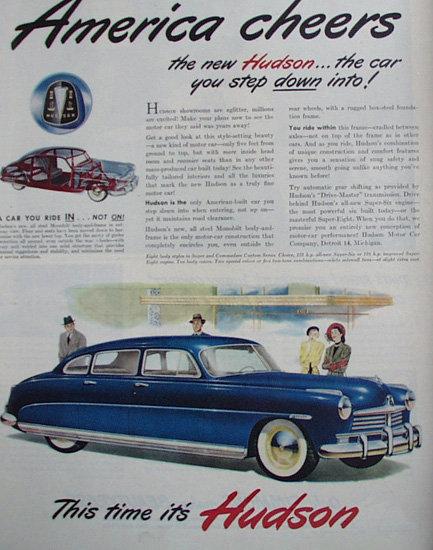 Hudson Car 1948 Ad.