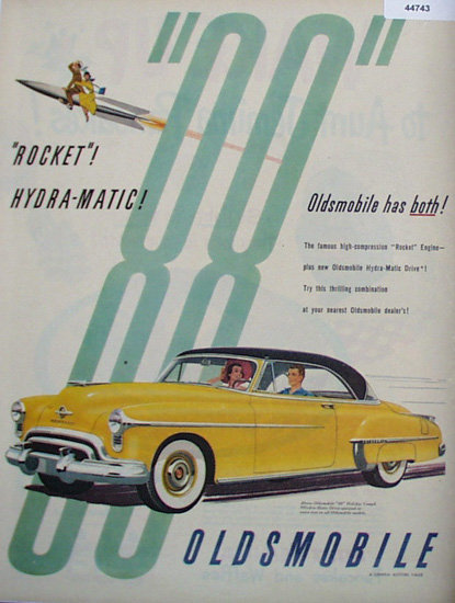 88 Oldsmobile Rocket Hydra Matic 1950 Ad.
