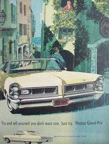 Pontiac Grand Prix Car 1964 Ad.