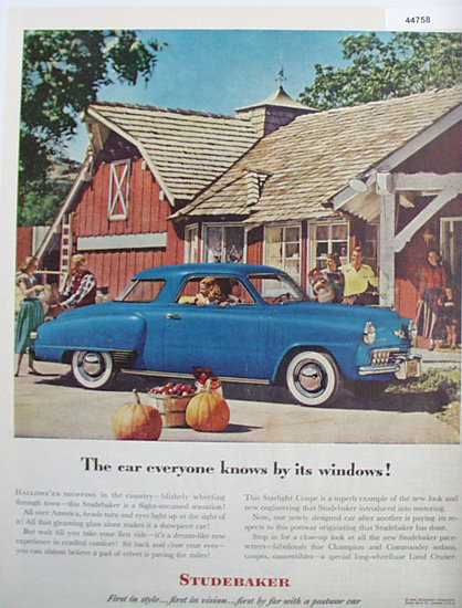 Studebaker Starlight Coupe Car 1948 Ad