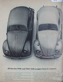 Volkswagens Cars 1964 Ad.