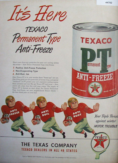 Texaco Anti Freeze 1948 Ad.