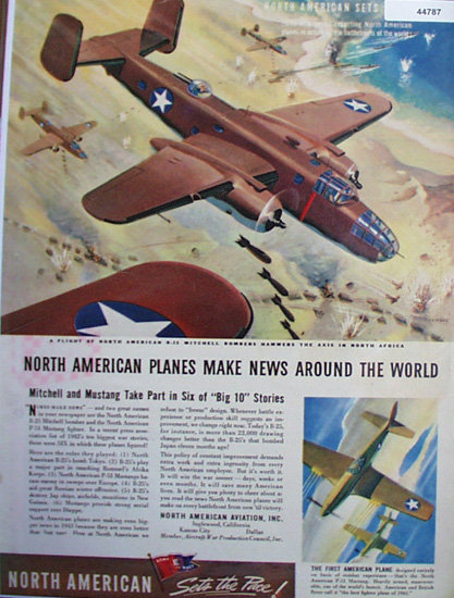 North American Aviation 1943 Ad