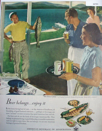 United States Brewers Foundation 1950 Ad