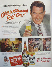 Blatz Beer 1949 Ad.