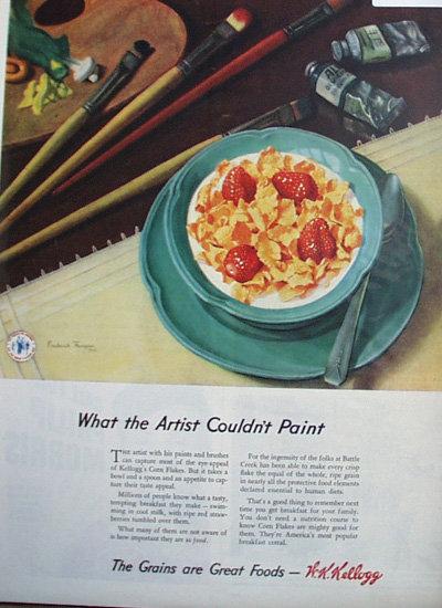 Kelloggs Corn Flakes 1944 Ad