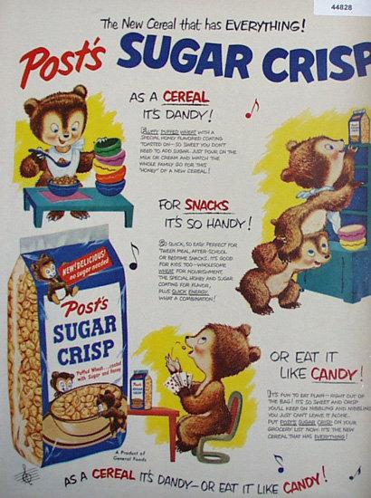 Posts Sugar Crisp 1950 Ad