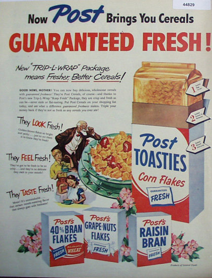 Poast Toasties Cereals 1950 Ad
