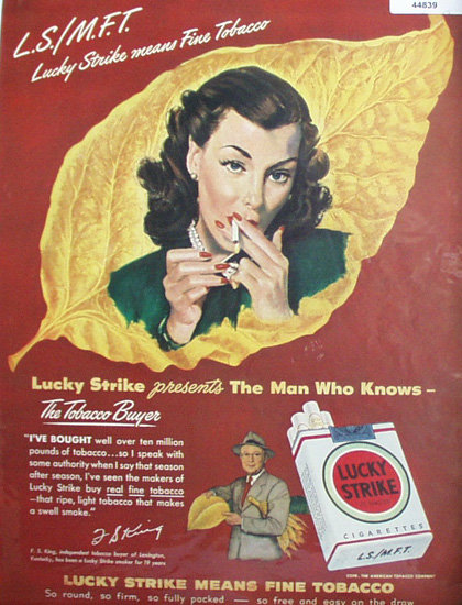Lucky Strike Cigarettes 1948 Ad
