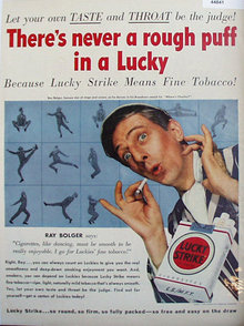 Lucky Strike Cigarettes 1950 Ad