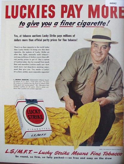 Lucky Strike Cigarette 1949 Ad