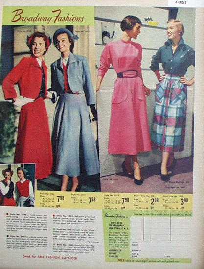 Broadway Fashions By Broadway Fashions 1950 Ad.