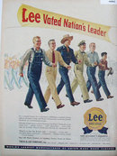 Lee Highest Quality Work Clothes 1948 Ad.