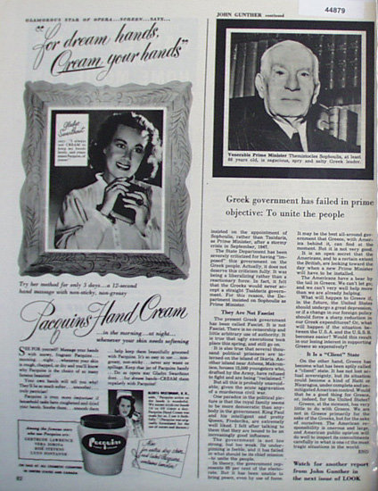 Pacquins Hand Cream 1948 Ad