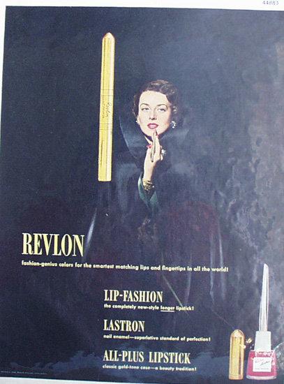 Revlon Lastron Nail Enamel 1948 Ad