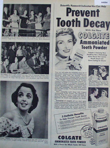 Colgate Ammoniated Tooth Powder 1949 Ad
