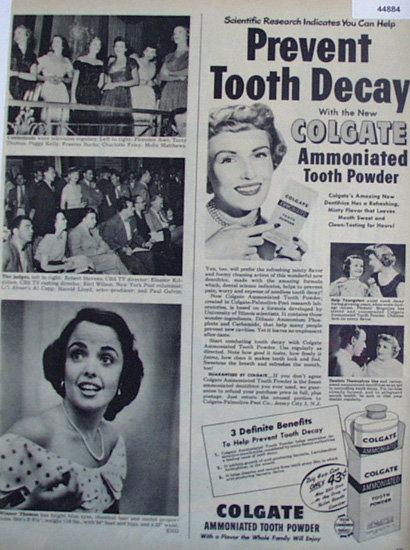 Colgate Ammoniated Tooth Powder 1949 Ad