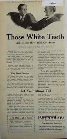 Pepsodent Dentifrice 1920 Ad