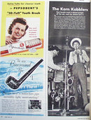Pepsodents 50 Tuft Tooth Brush 1943 Ad