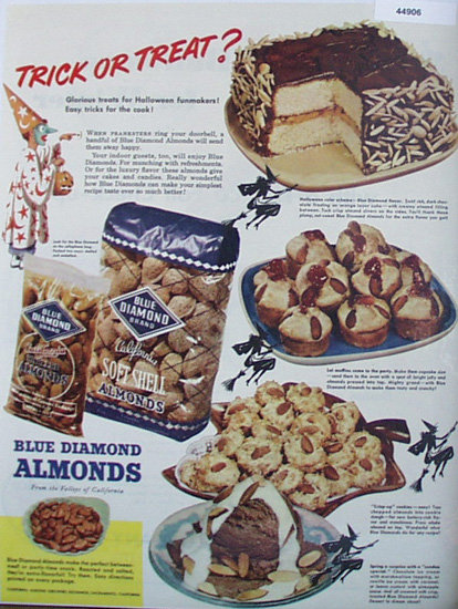 Blue Diamond Almonds 1947 Ad