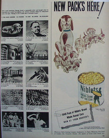 Niblets Fresh Corn Off The Cob 1948 Ad