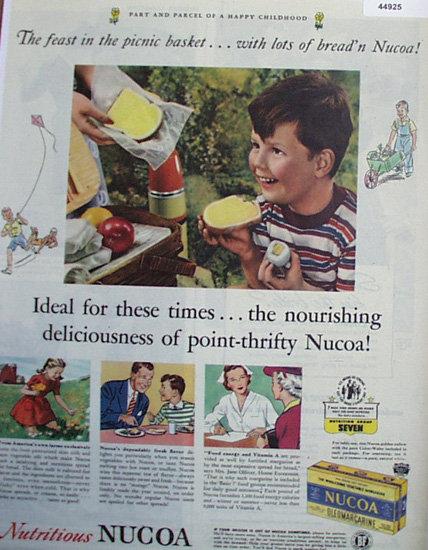 Nucoa Oleomargarine 1944 Ad