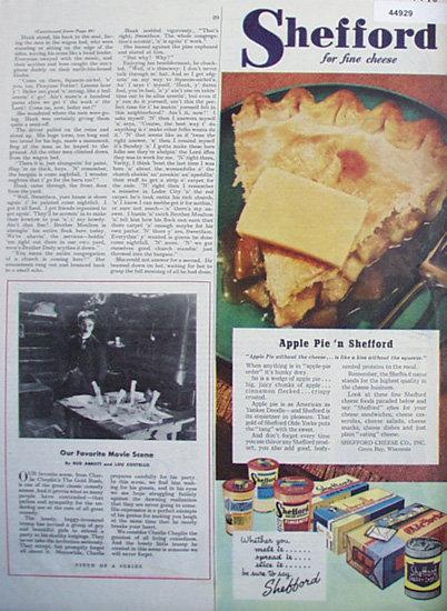 Shefford Cheese 1945 Ad.