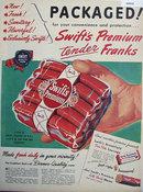 Swifts Premium Frankfurts 1947 Ad