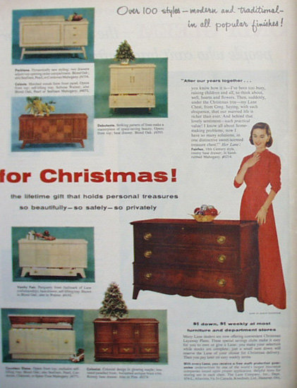 Lane Cedar Chest 1956 Ad