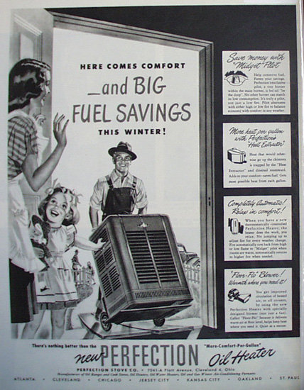 Perfection Oil Heater 1948 Ad