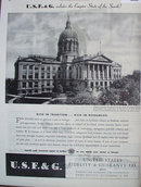 United States Fidelity And Guaranty Co. 1945 Ad.