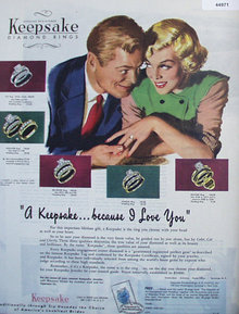 Keepsake Diamond Rings 1949 Ad.