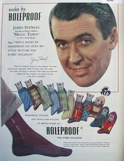 Holeproof Mens Socks 1947 Ad