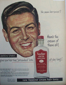 Vaseline Cream Hair tonic 1948 Ad