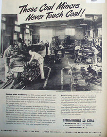Bituminous Coal Institute 1949 Ad