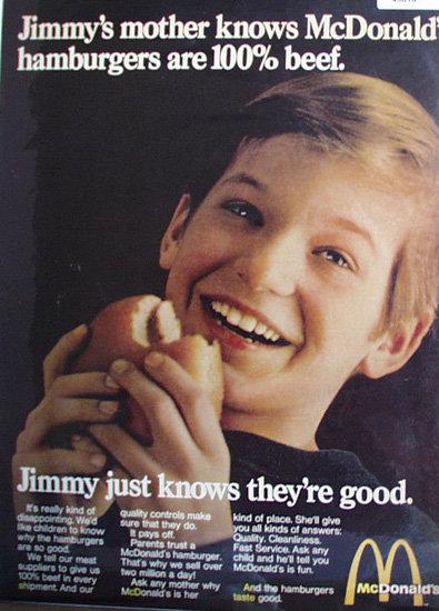 McDonalds Hamburgers 1969 Ad