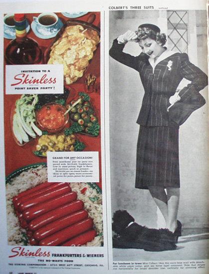 Mennen Antiseptic Baby Powder 1944 Ad.
