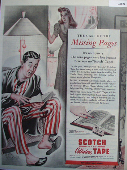 Scotch brand Cellulose Tape 1944 Ad