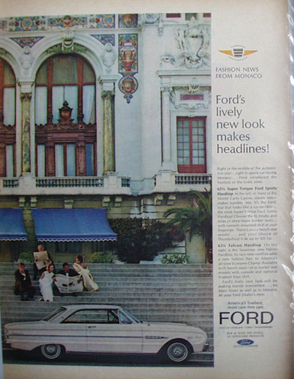 Ford Fashion News From Monaco 1963 Ad