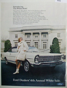 Ford Dealers White Sale 1967 Ad