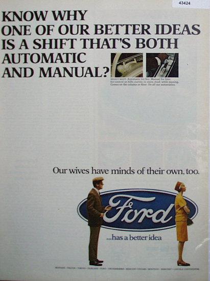 Ford Better Idea 1967 Ad