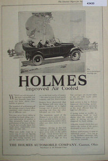 Holmes Touring Car 1920 Ad