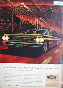 60 Pontiac Bonneville Vista 1960 Ad.