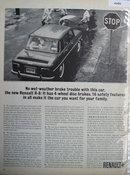 R-8 Renault Car 1963 Ad