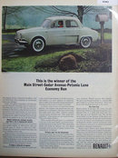 Renault Dauphine Car 1963 Ad
