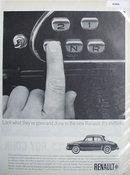 Renault Dauphine Economy Sedan 1963 Ad